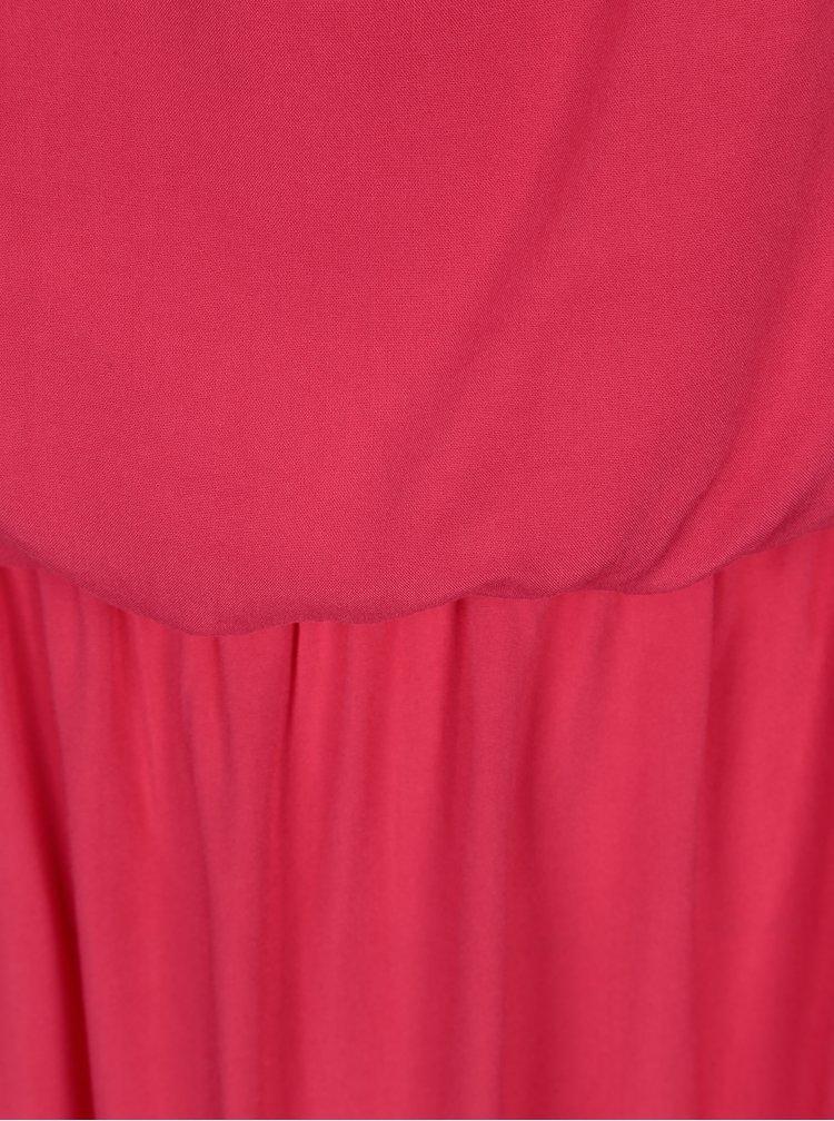 Tmavě růžové maxišaty na ramínka ONLY Nova