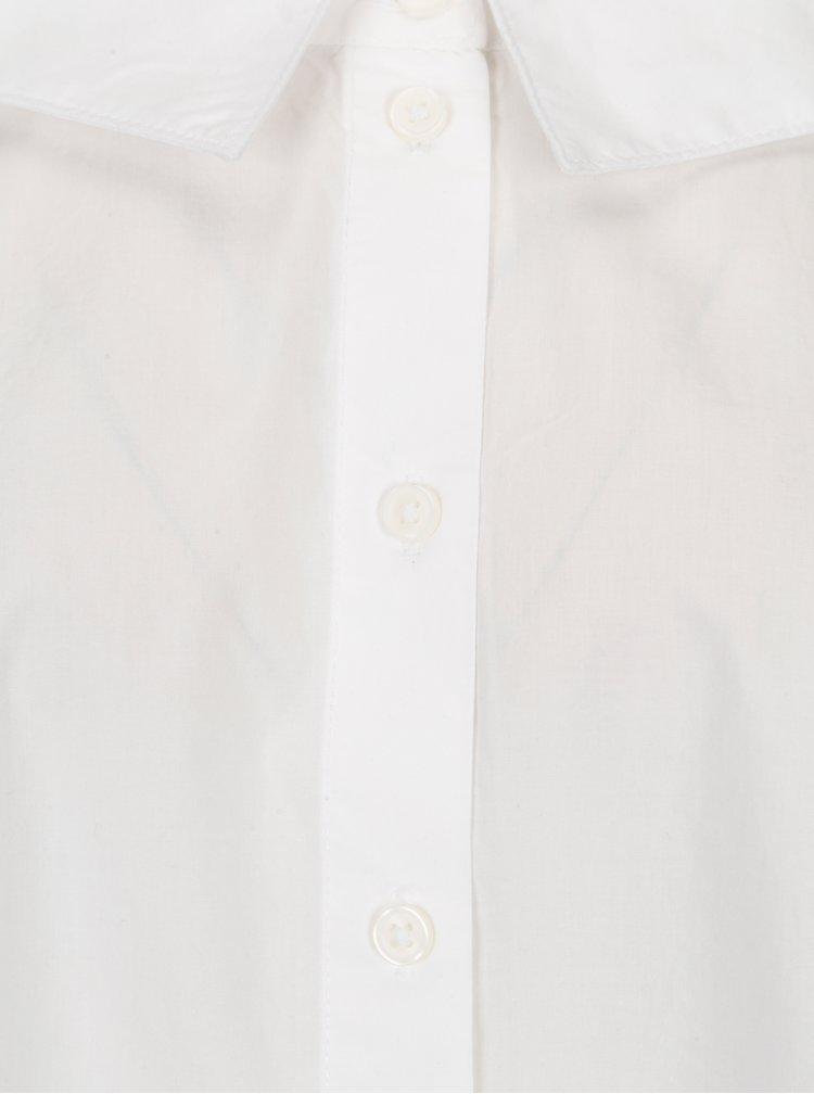 Bílá krátká košile s lodičkovým výstřihem ONLY Bambi
