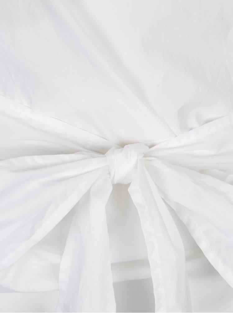 Bluza alba suprapusa cu cordon in talie - ONLY Helen