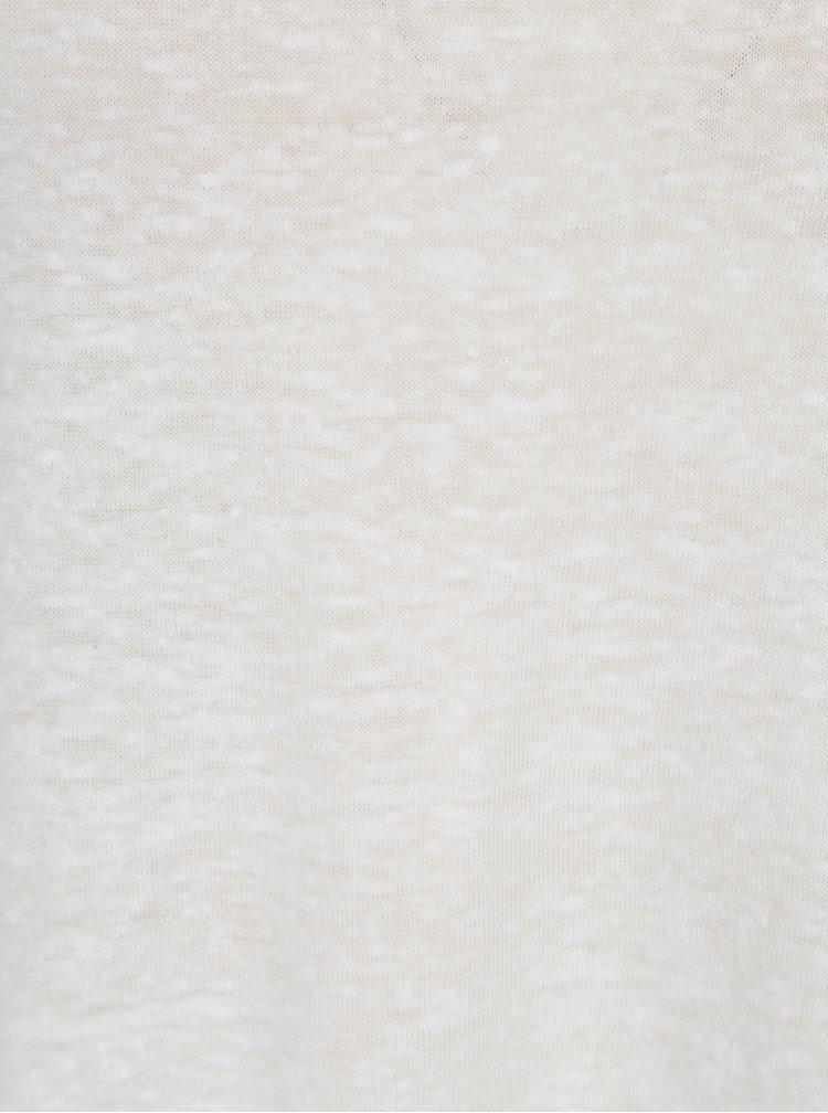Tricou alb asimetric si translucid - ONLY Uma