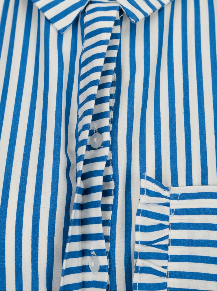 Modro-bílá pruhovaná košile s kapsou VILA Melava