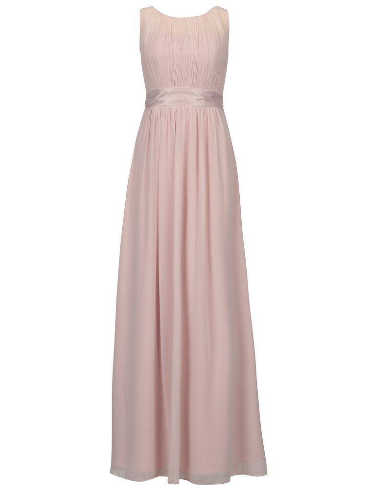 Světle růžové asymetrické maxišaty Dorothy Perkins