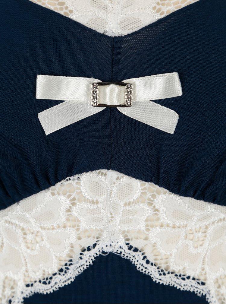 Tmavě modrá noční košilka s krajkovými detaily Eldar Bona