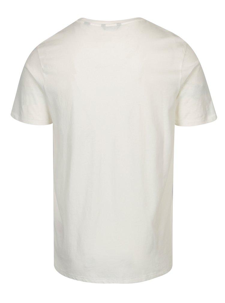 Tricou crem cu print - ONLY & SONS Baldur