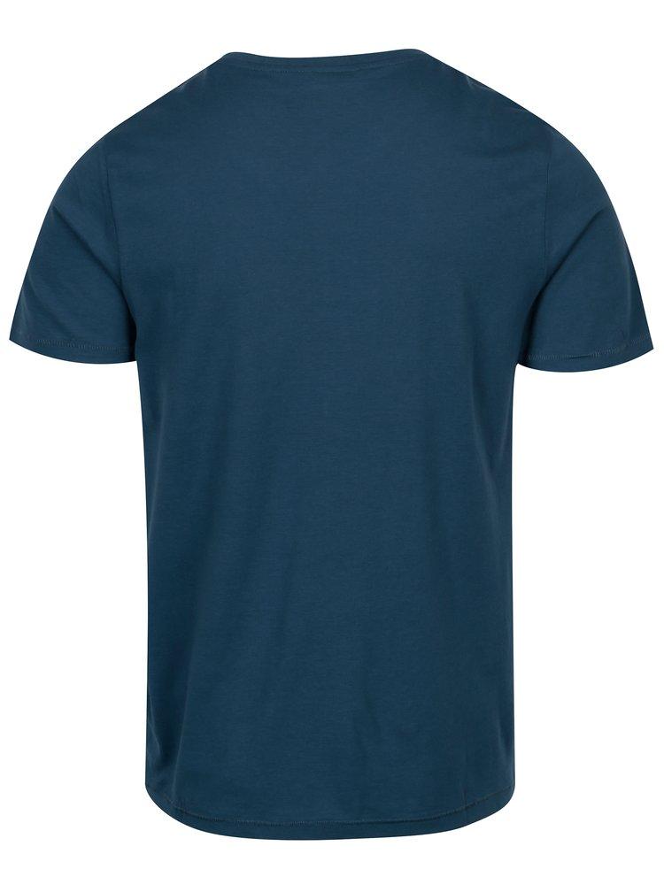 Modré tričko s potiskem ONLY & SONS Baldur