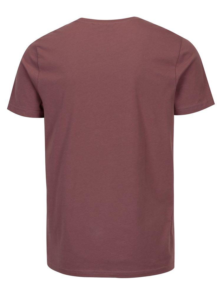 Světle fialové pánské tričko s potiskem Broadway Bennie