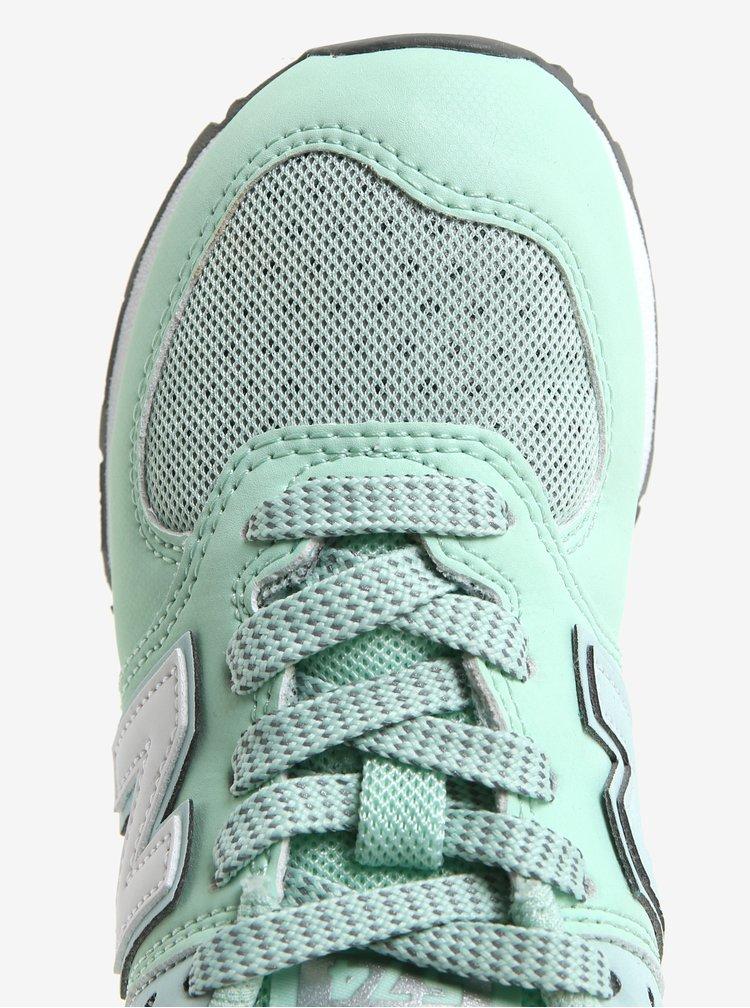Světle zelené dětské tenisky New Balance