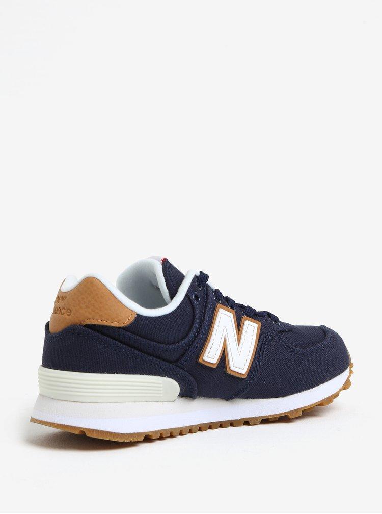 Tmavě modré dětské tenisky New Balance