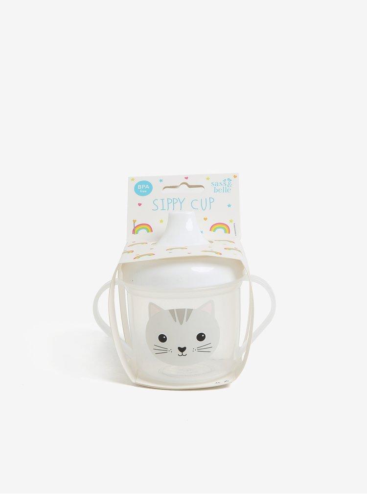 Transparentní dětský hrníček s motivem kočky Sass & Belle