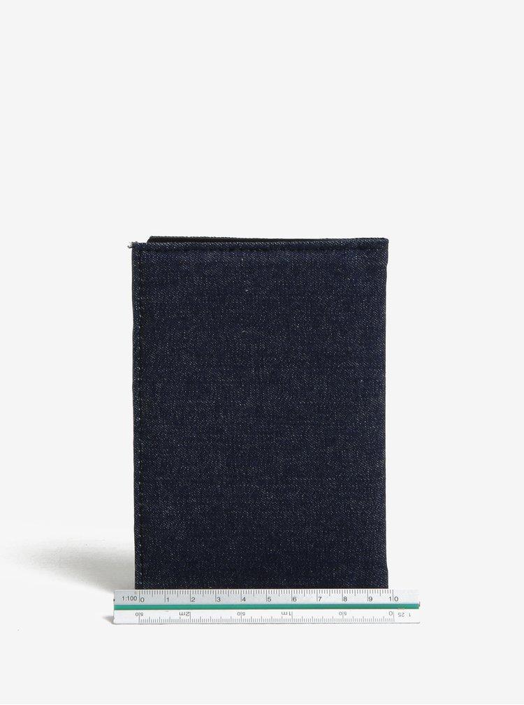 Tmavě modré džínové pouzdro na doklady Sass & Belle