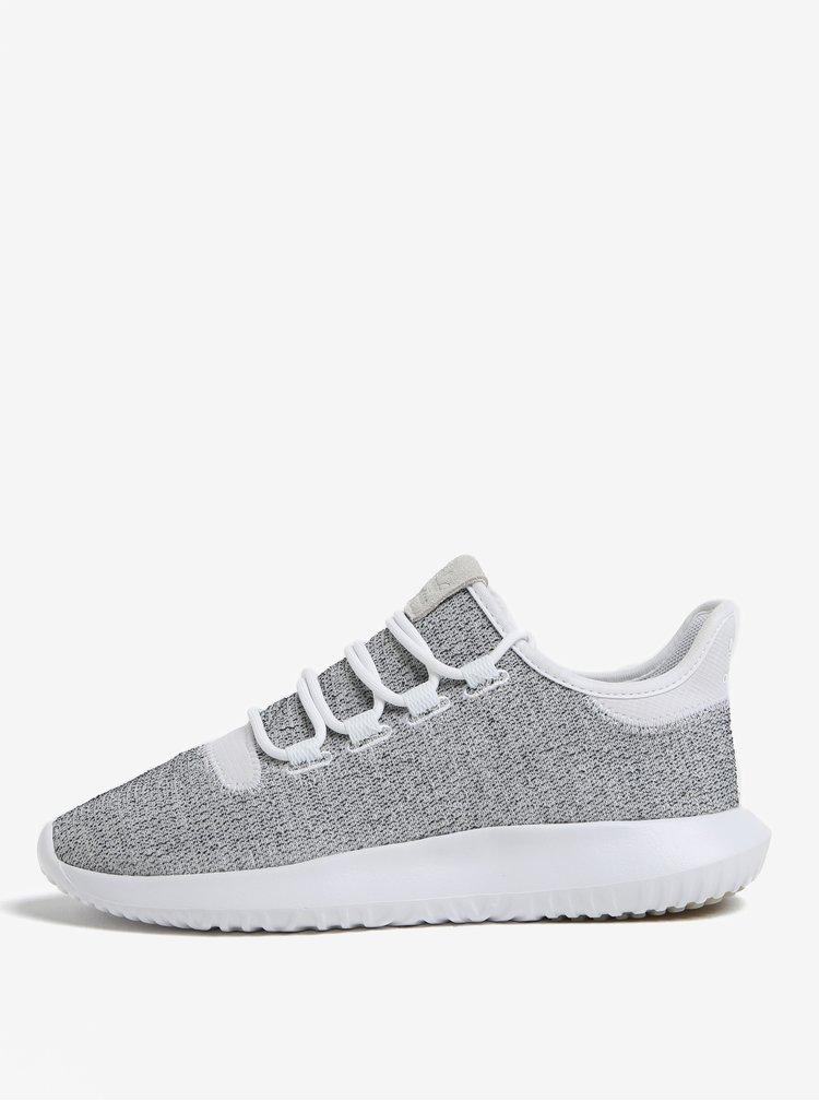 Sivo-biele pánske melírované tenisky adidas Originals Tubular