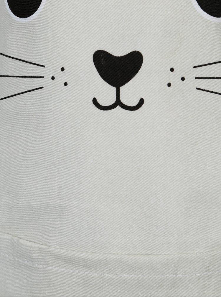 Šedá holčičí zástěra s motivem kočky Sass & Belle