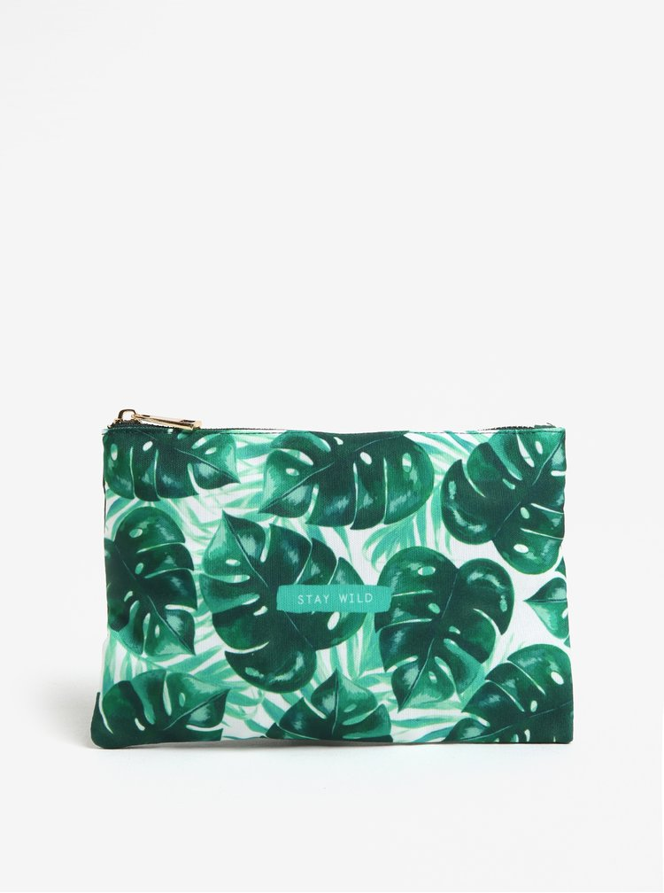 Zelená kosmetická taštička Sass & Belle