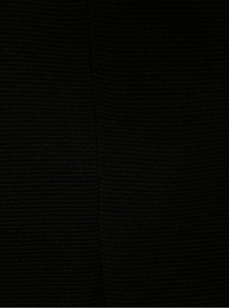 Černé žebrované sako ONLY Anna