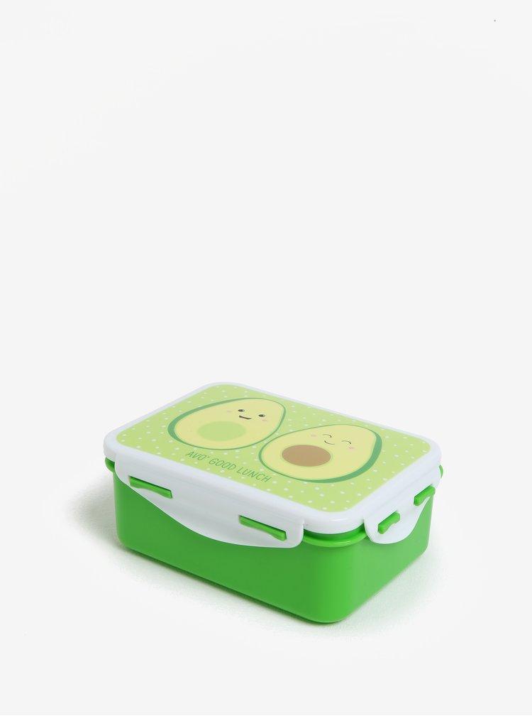 Zelený box na jídlo s potiskem avokáda Sass & Belle