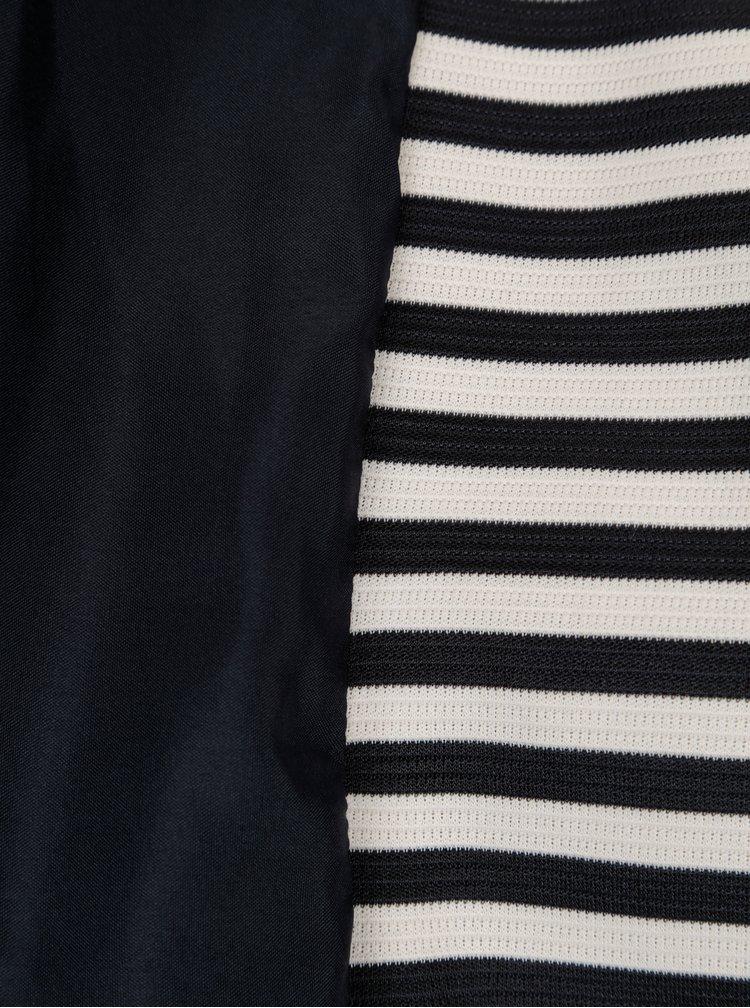 Modro-krémové pruhované sako ONLY Anna