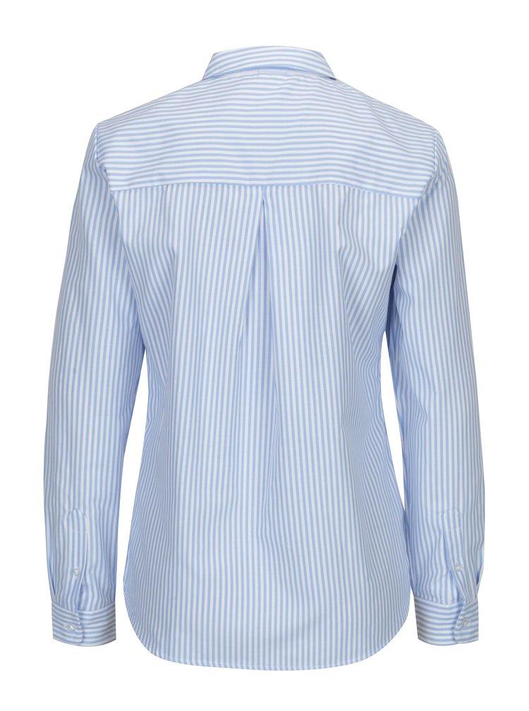 Bílo-modrá pruhovaná košile s náprsní kapsou ONLY Lauren