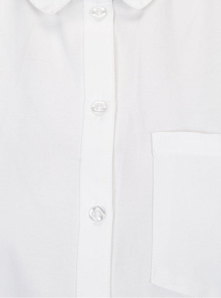 Bílá košile s náprsní kapsou ONLY Lauren
