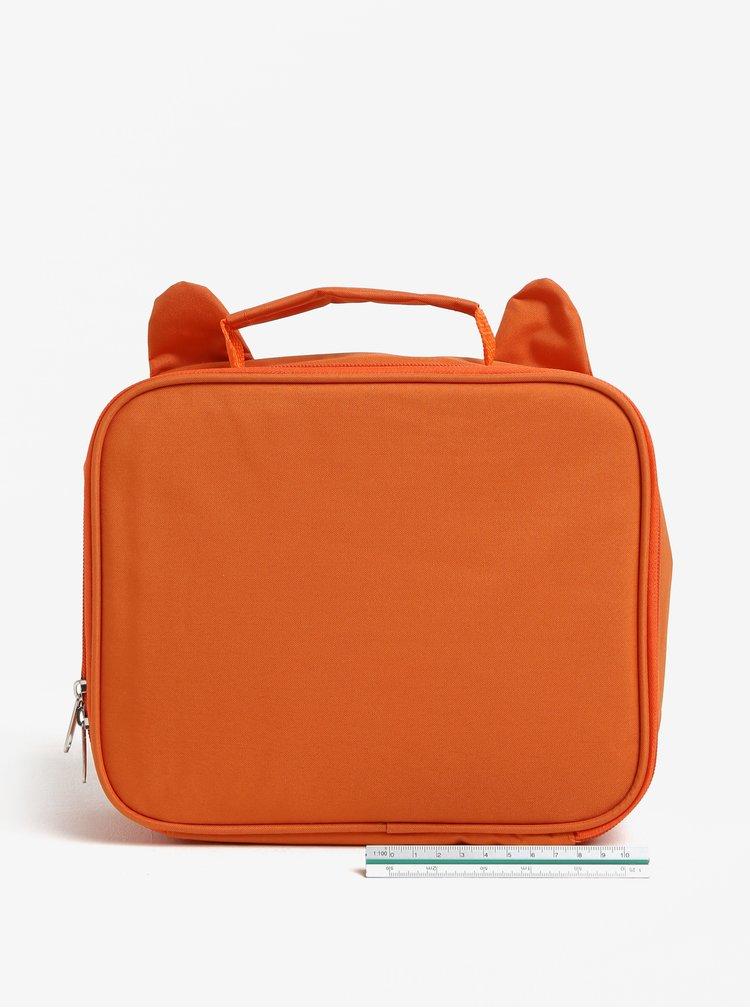 Geanta portocalie in forma de vulpe pentru alimente - Sass & Belle