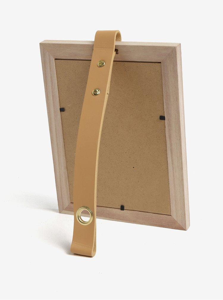 Dřevěný fotorámeček se závěsným páskem Kaemingk