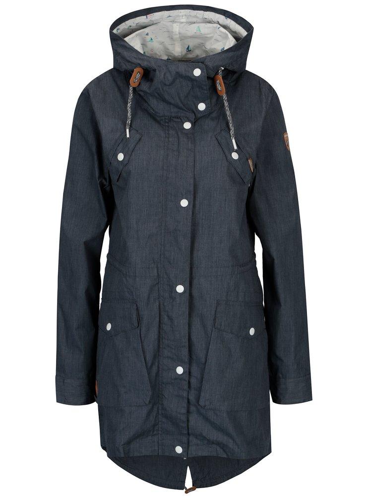 Modrá dámská parka se stahovací kapucí Ragwear Clancy