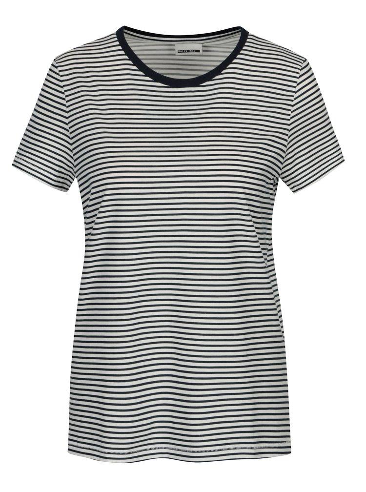 Bílo-modré pruhované tričko Noisy May Shelly