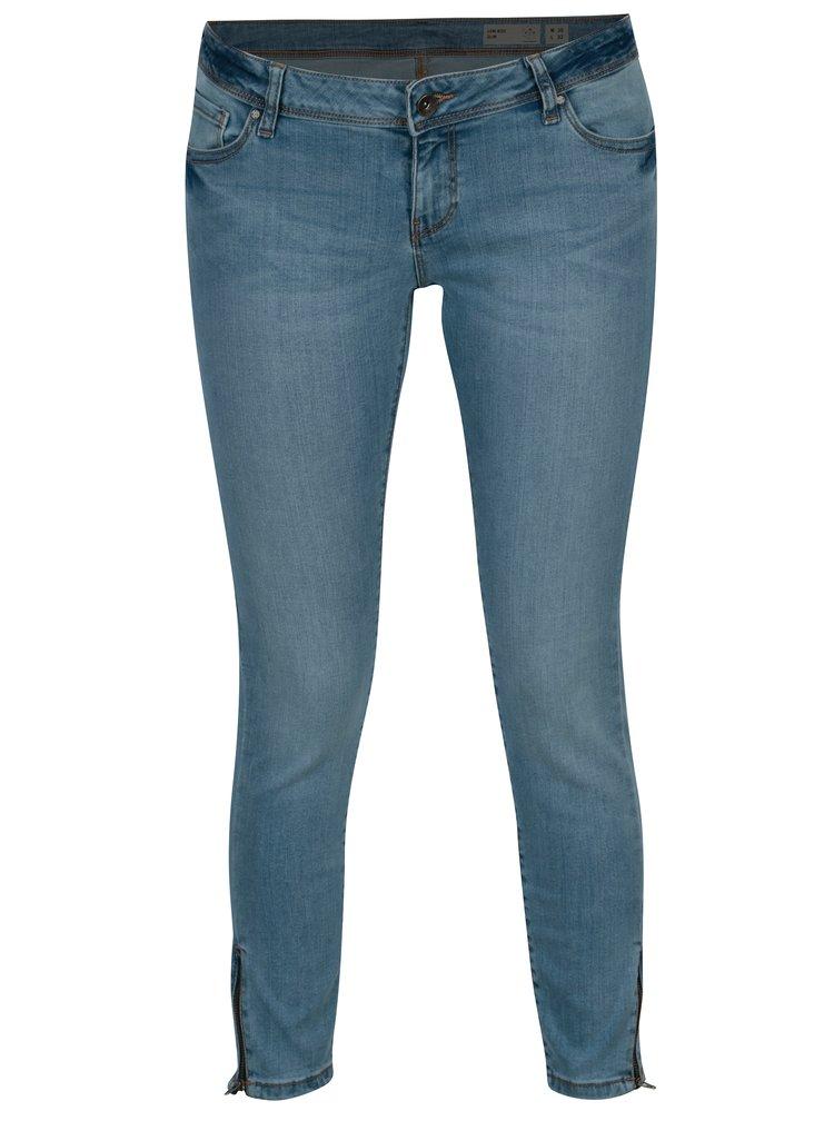 Světle modré zkrácené slim džíny VERO MODA Five