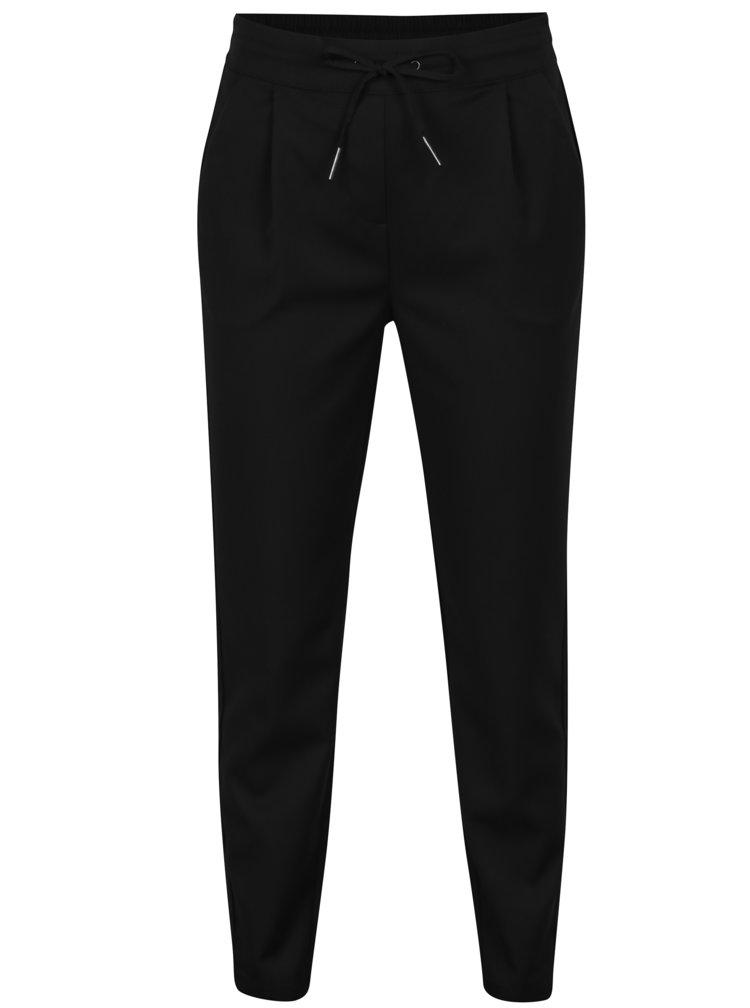 Pantaloni conici negri cu talie elastica - VERO MODA Rory