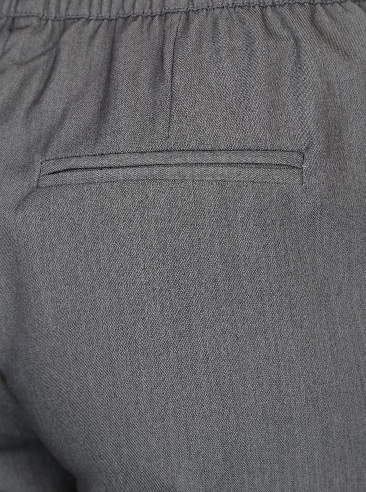 Šedé kalhoty s gumou v pase VERO MODA Rory