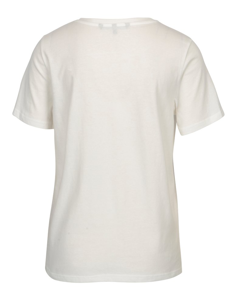 Krémové tričko s motívom kruhu VERO MODA Jenny