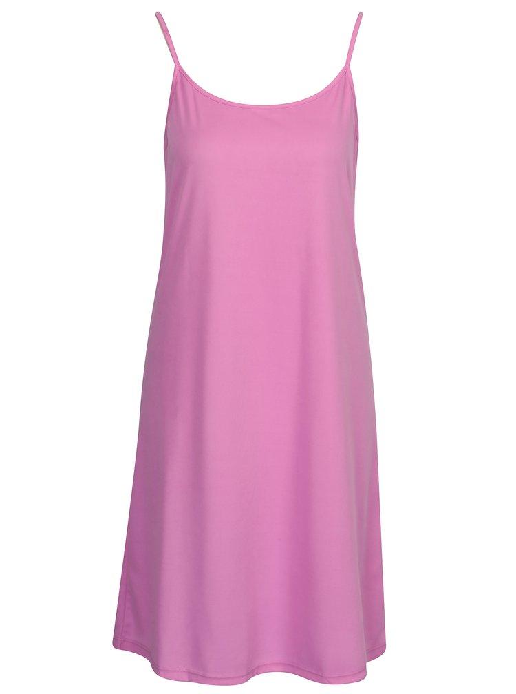 Růžové květované šaty s odepínací vnitřní částí 2v1 VERO MODA Elena