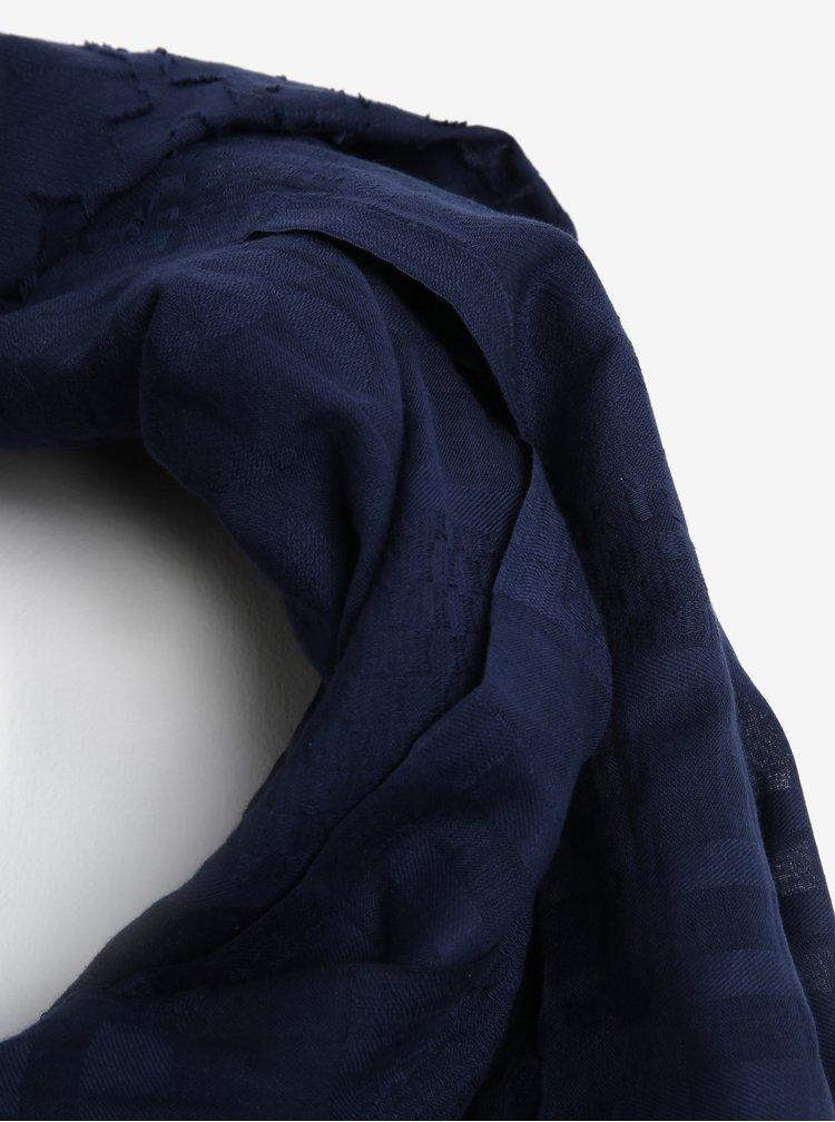 Tmavě modrá šála s jemným vzorem Dorothy Perkins