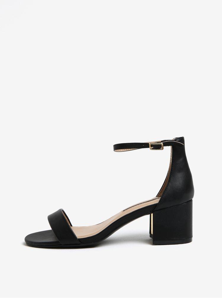 Černé sandálky na podpatku Dorothy Perkins