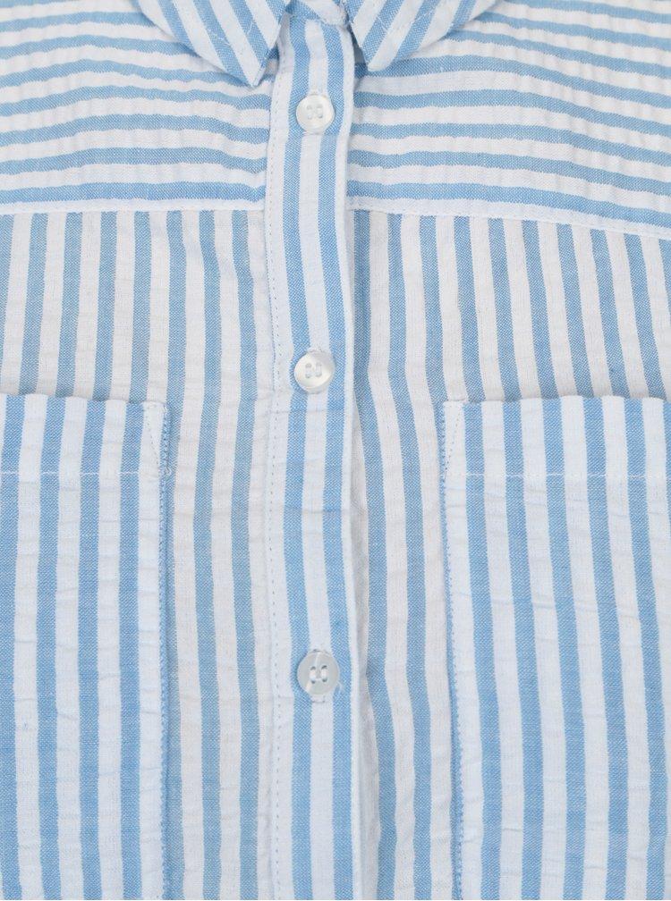 Bílo-modrá pruhovaná košile s kapsami Dorothy Perkins