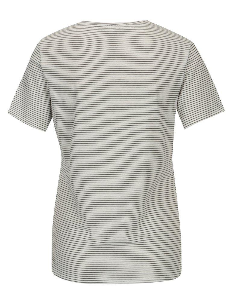 Krémový pruhované tričko s výšivkou Dorothy Perkins