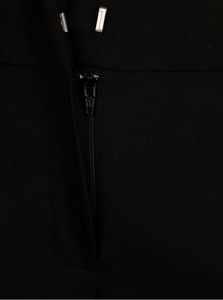 Černé zkrácené kalhoty s rozparky Dorothy Perkins
