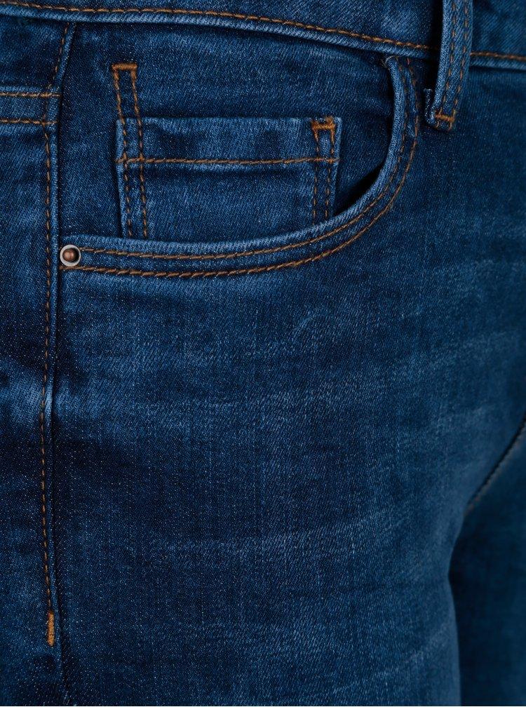 Tmavě modré skinny džíny s jemným opraným efektem Dorothy Perkins Darcy