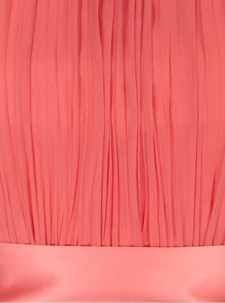 Korálové maxi šaty bez rukávu Showcase by Dorothy Perkins