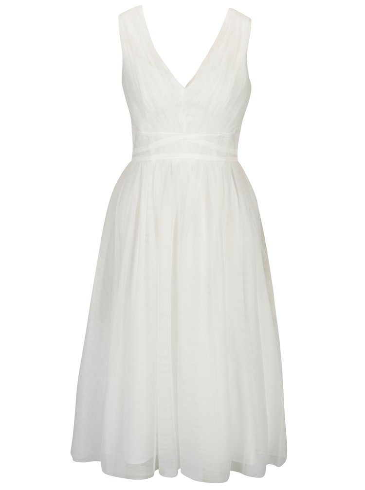 Krémové tylové šaty bez rukávov Showcase by Dorothy Perkins