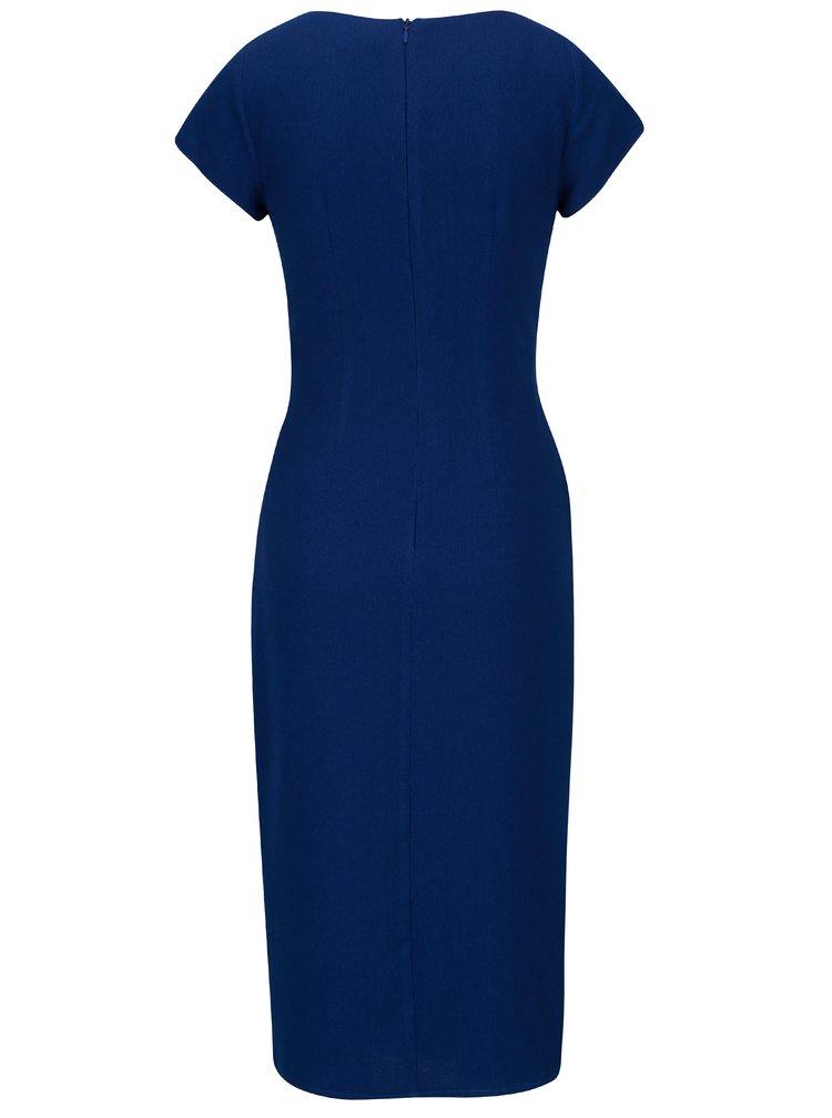 Modré šaty s řasením Dorothy Perkins
