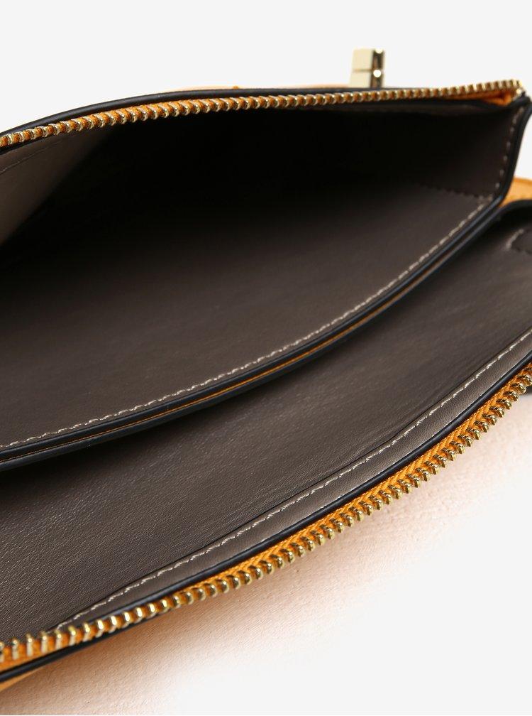 Geanta plic galben mustar cu bareta detasabila - Gionni Beryl