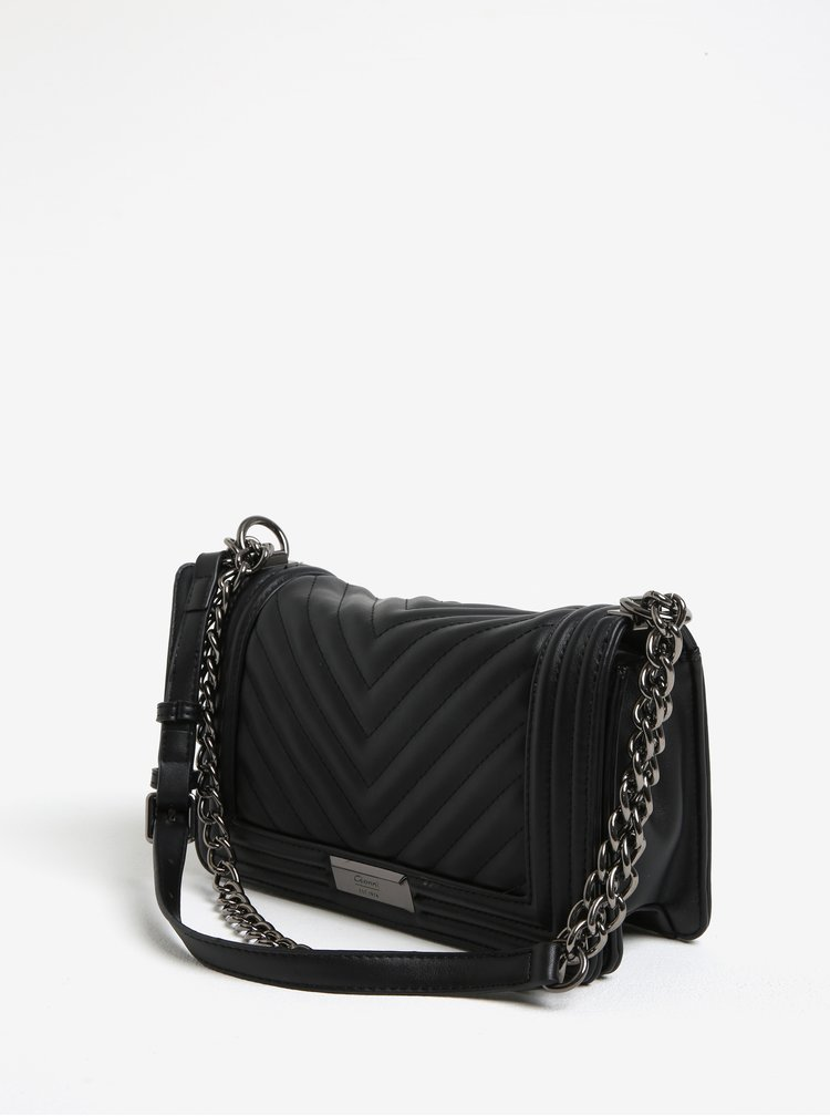 Černá prošívaná kabelka Gionni Carmel