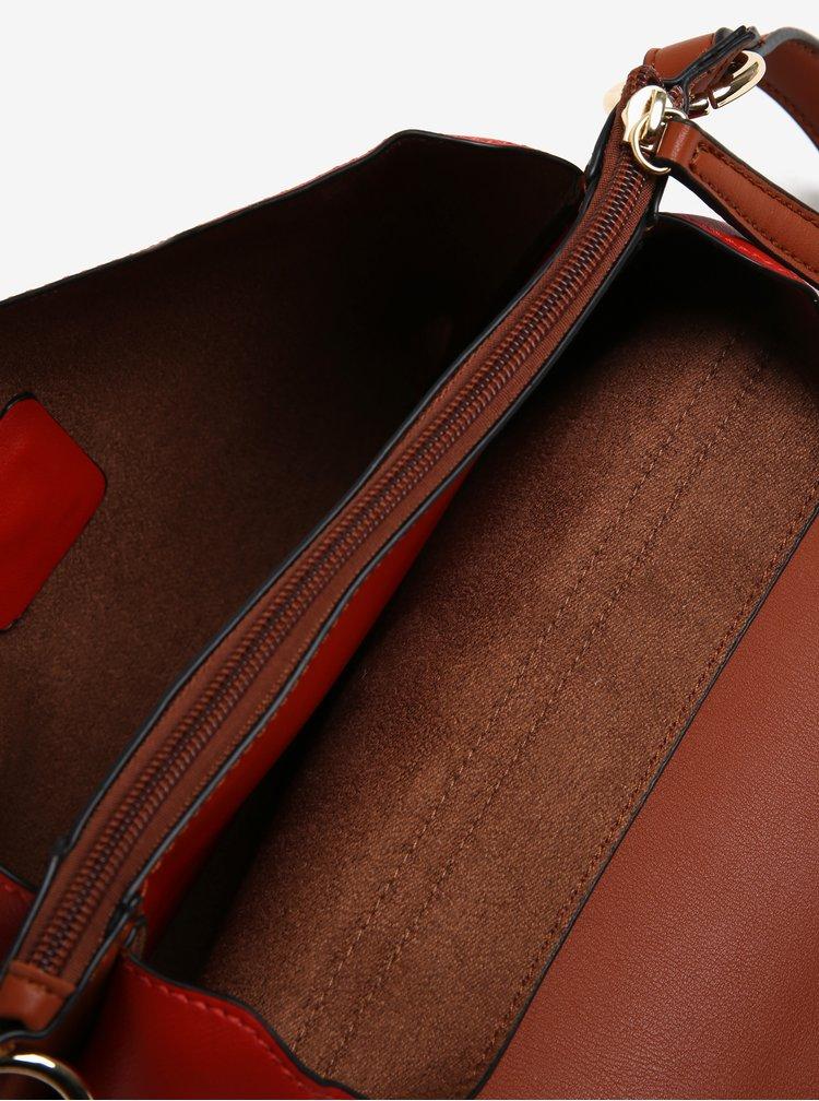 Hnědo-červená crossbody kabelka Gionni Cara
