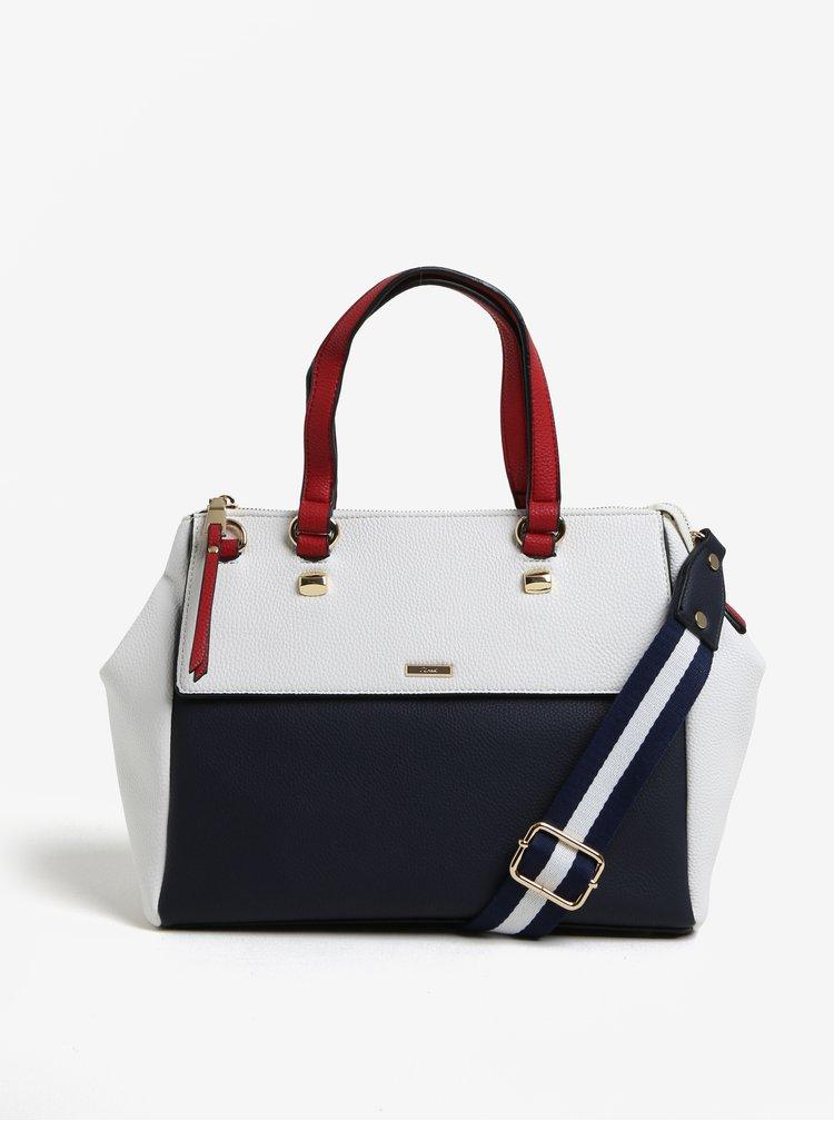 Modro-krémová kabelka s klopou Gionni Ada