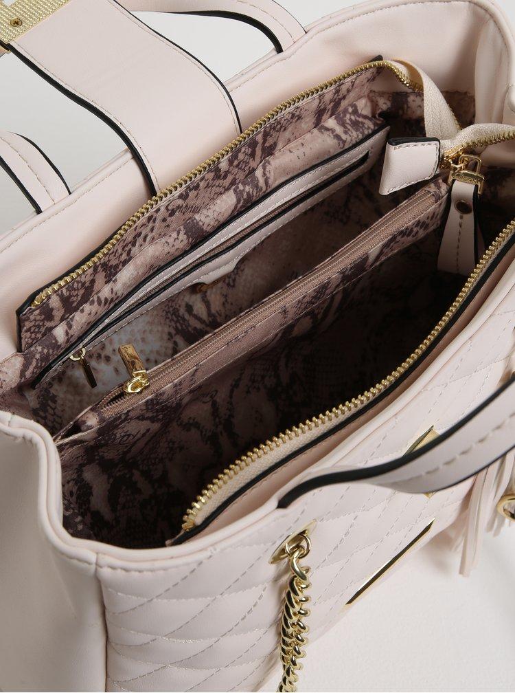 Světle růžová prošívaná kabelka Gionni Trina