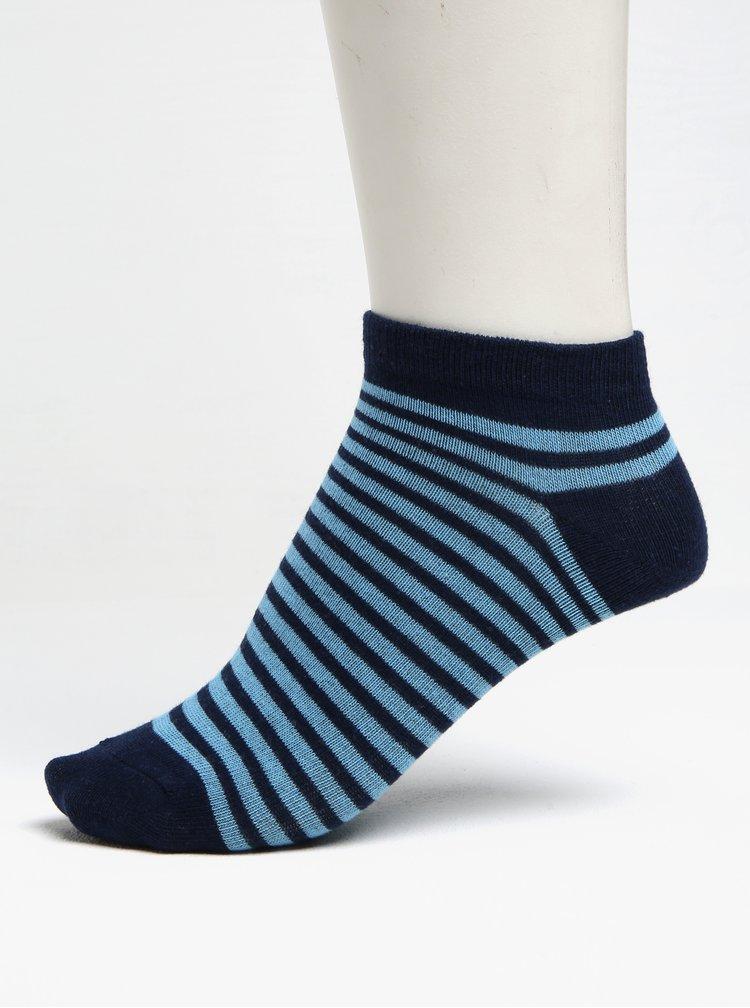 Sada tří párů klučičích pruhovaných ponožek v modré a šedé barvě 5.10.15.
