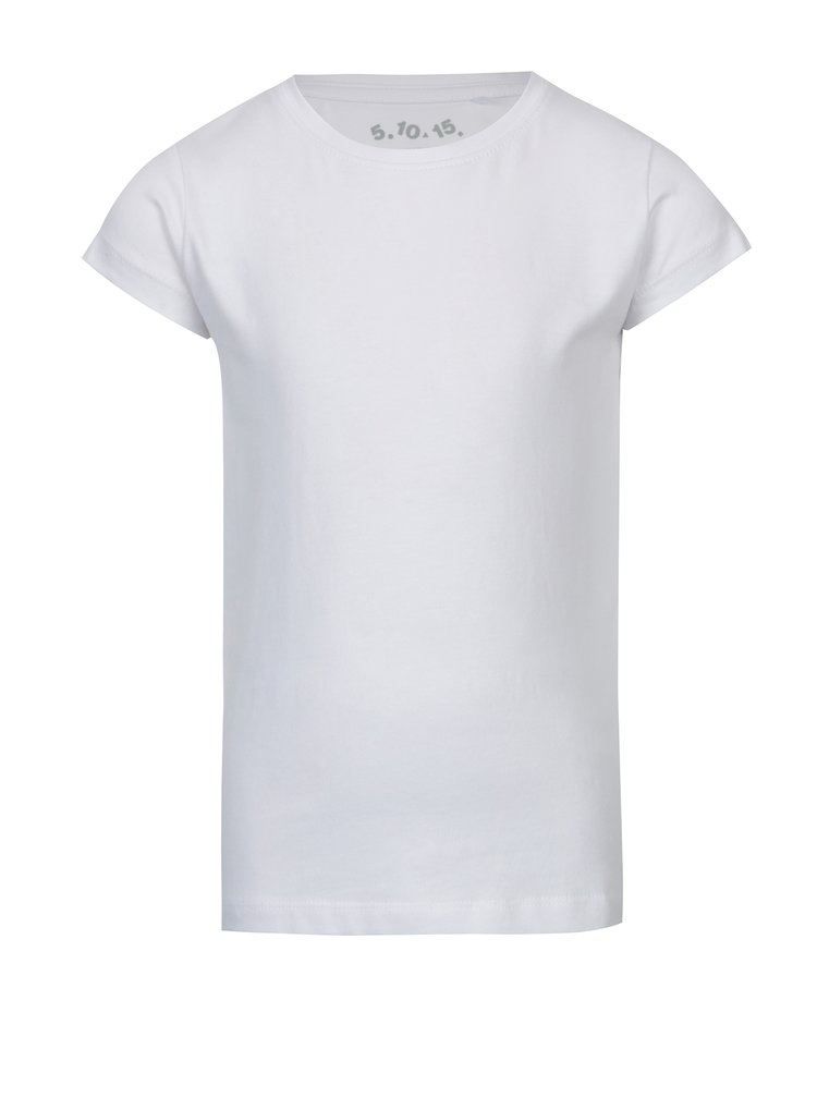 Bílé holčičí tričko s krátkým rukávem 5.10.15.