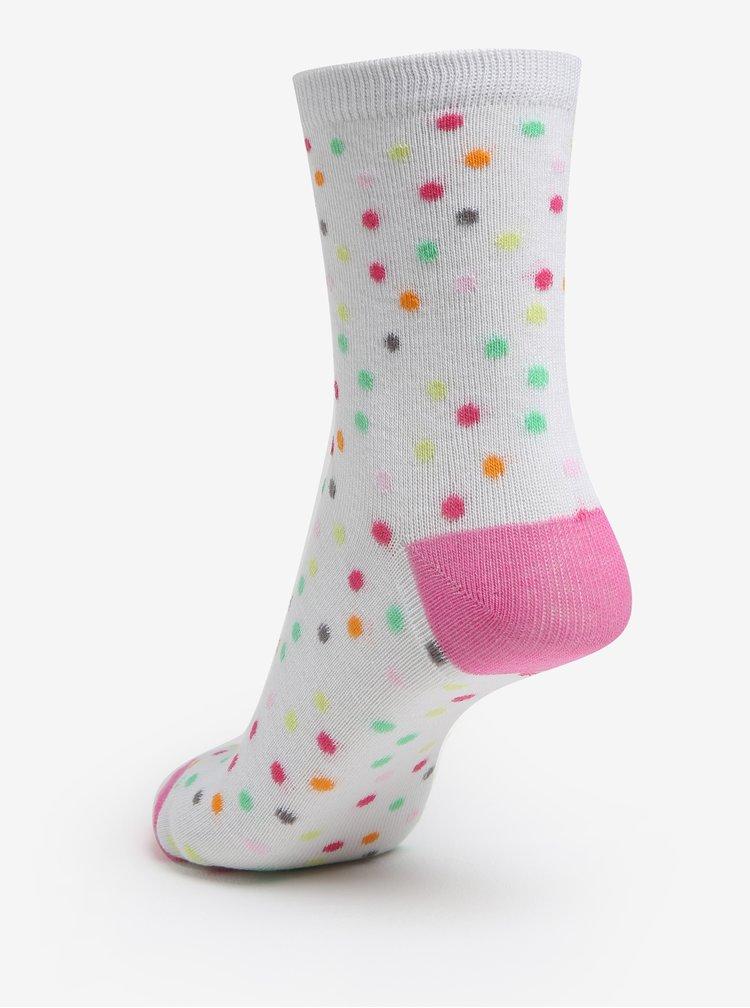 Sada tří párů holčičích vzorovaných ponožek v růžové a bílé barvě 5.10.15.