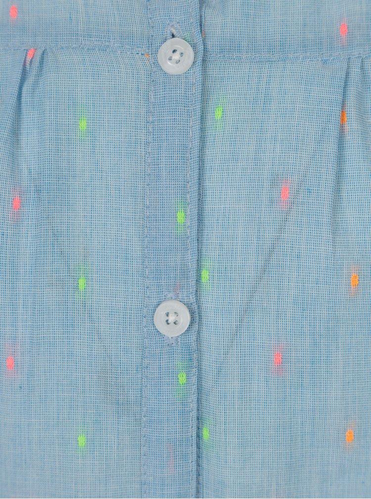 Světle modrá holčičí puntíkovaná halenka 5.10.15.