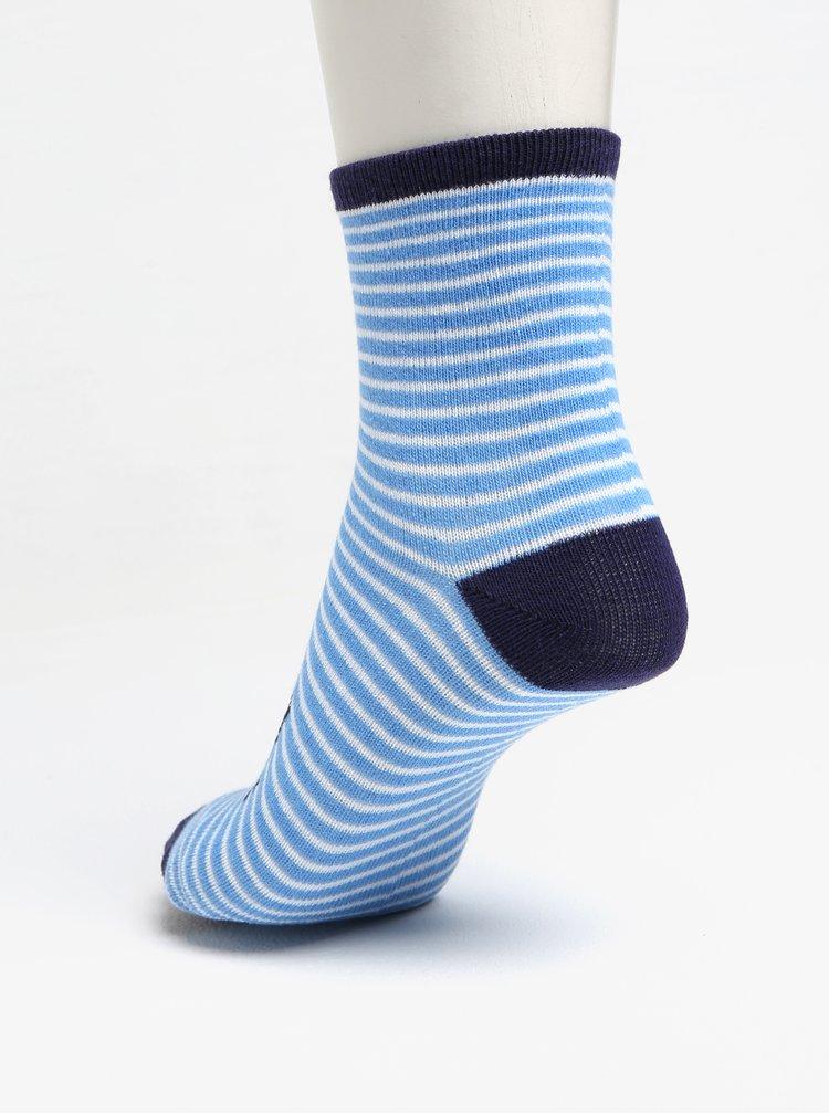 Sada tří párů vzorovaných klučičích ponožek v modré barvě 5.10.15.